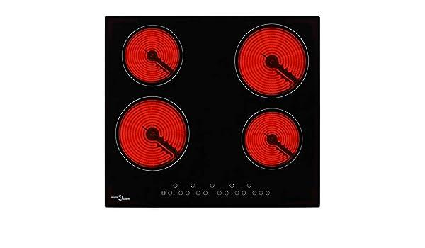 FESTNIGHT Placa Vitrocerámica 4 Quemadores, Control de ...