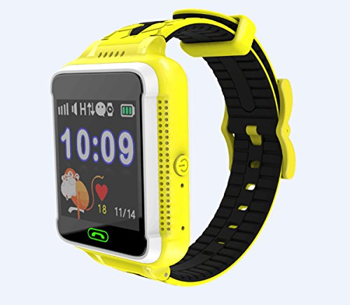 TechComm G500S Kids Smartwatch with GPS and Fitness Tracker for T-Mobile ONLY Yellow ()