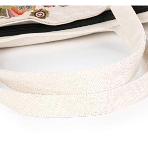 Filo 1 Animal Tracolla Bag Canvas Jacquard Spalla Pattern Ricamo Borsa Shopping gvHtqx