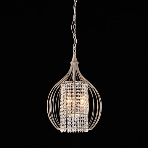 Compact Satin Nickel and Crystal Pendant Chandelier (Satin Compact Nickel)