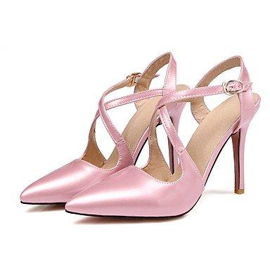 Patentado Otro Vestido ligaosheng Beige Mujer Rosa Rojo pink Tacón Cuero Stiletto Negro Sandalias OAOt0xn6