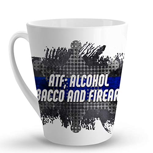 Makoroni - ATF; ALCOHOL TOBACCO AND FIREARMS Police Cop Cops - 12 Oz. Unique LATTE MUG, Coffee Cup