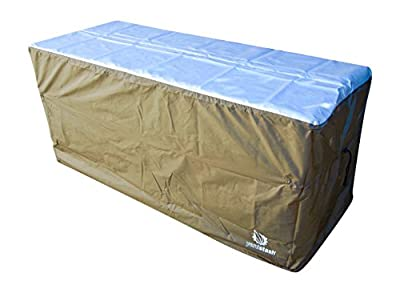 YardStash Deck Box Cover to Protect Large Deck Boxes: Lifetime 60012 Extra Large Deck Box Cover, Suncast DBW9200 Deck Box Cover, Rubbermaid 5E39 Deck Box Cover & Rubbermaid w/Seat Deck Box Cover