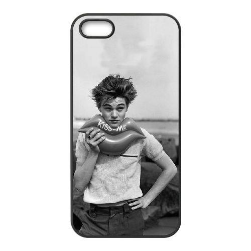 Leonardo Dicaprio 004 coque iPhone 5 5S cellulaire cas coque de téléphone cas téléphone cellulaire noir couvercle EOKXLLNCD25508