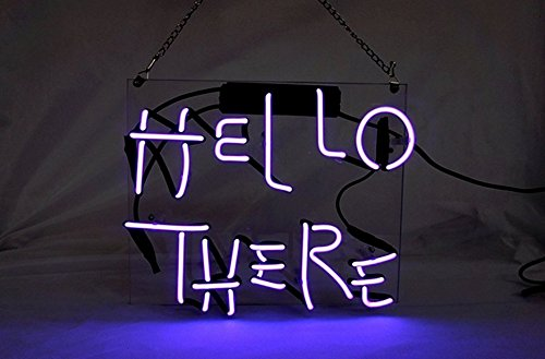 Hello There Beer Bar Pub Store Party Room Wall Windows Display Neon Signs 10x10