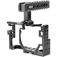 SmallRig Camera Cage Kit Including Top Handle and HDMI Clamp for Panasonic Lumix DMC-GX85/ GX80/ GX7 Mark II-2009