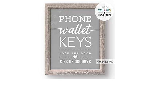 Amazon.com: Cute Home Decor Print - Wallet, Phone, Keys, Kiss ...