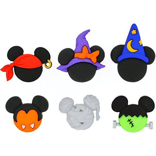 Dress It Up 7924 Disney Button & Embellishments, Mickey & Minnie Halloween -