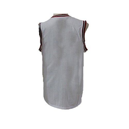 meetziis Men's #23 Basketball Jerseys Retro Jersey White(S-XXL) (M)