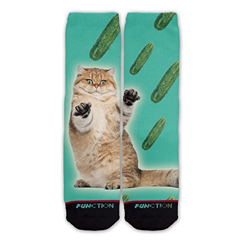 Cheap Function - Cat Cucumber Fashion Socks