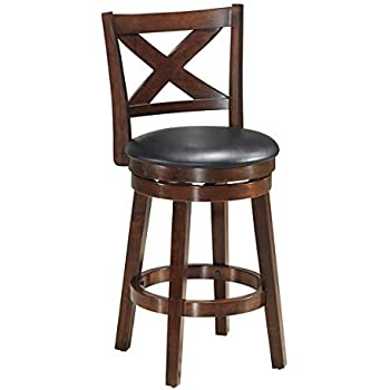 Amazon Com Costway Vintage Dining Chair Accent Wooden Swivel Back