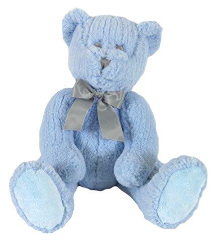 - Stephan Baby Ultra-Soft Chenille Plush My First Teddy Bear, Blue, 14