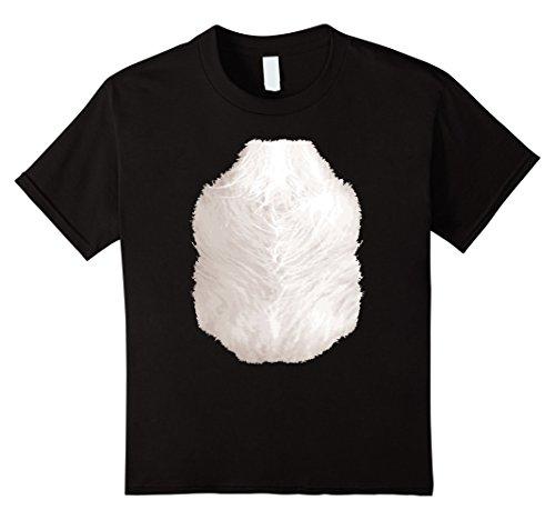 Kids Cute Panda Costume T-Shirt Halloween Animal Belly for Kids 10 Black