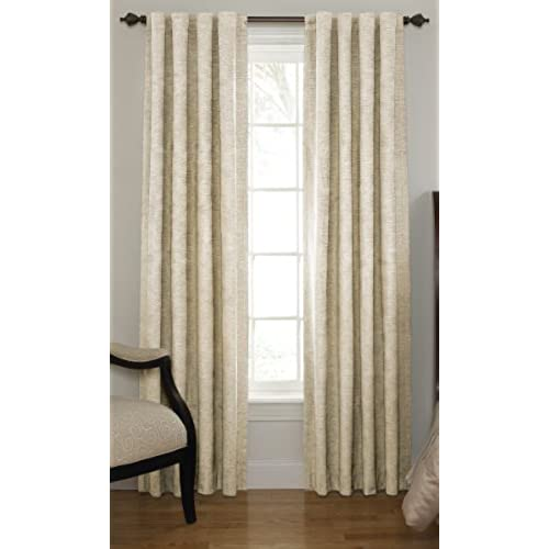Beautyrest 11239042X095IV Chenille 42 Inch By 95 Rod Pocket Single Window Curtain Panel Ivory