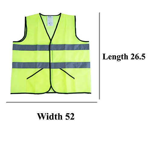 CIMC Yellow Reflective Safety Vest with Pockets, 10 Pack, Bright Construction Vest with Reflective Strips,Made from Breathable and Neon Yellow Mesh Fabric,High Visibility Vest for Working Outdoor by CIMC SAFETY (Image #7)