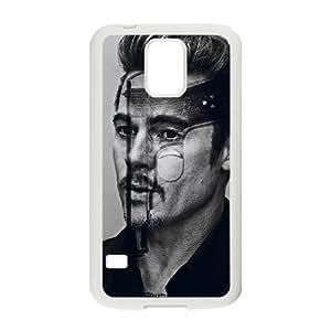 taoyix diy C-EUR Customized Print Brad Pitt Hard Skin Case Compatible For Samsung Galaxy S5 I9600