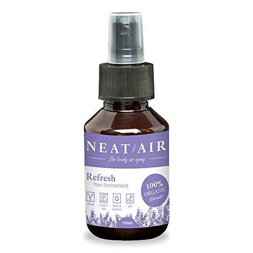 Profumo casa e auto NEAT AIR   Spray rinfrescante per ambiente con oli essenziali di lavanda   Deodorante 100% naturale   Diffusore di aromi casa/auto Vivere GmbH