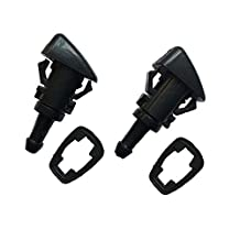 2pcs Windshield Washer Nozzle Jet Front 5303833AA fit 2007-2010 Jeep Compass Caliber Patriot