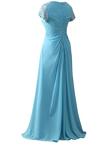 Pailletten Abendkleider Linie Brautmutterkleider HUINI Kleider Dunkelgrün Empire Hochzeit Chiffon A Lang Partykleider fwYwqAzt