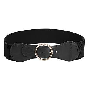 GRACE KARIN Women's Wide Cinch Belt Vintage Elastic Buckle Corset Belts