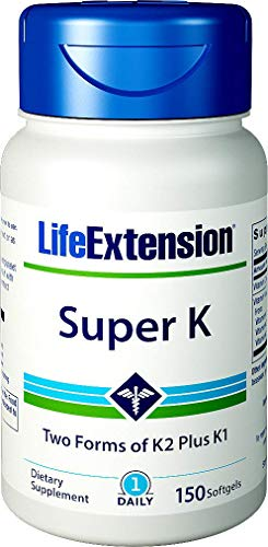 Life Extension Super K, 150 Softgels, with Vitamin K1 and K2