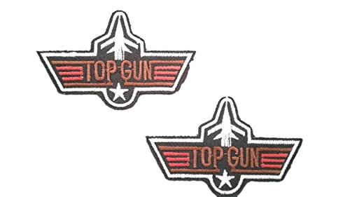 2 pieces Airforce Wings Iron On Patch Motif Applique Heraldic Insignia Decal 2.8 x 1.7 inches (4.5 x 4.3 cm) ()