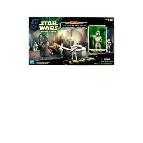 - Star Wars: Power of the Force Cantina 3-D Display Diorama with Sandtrooper & Patrol Droid