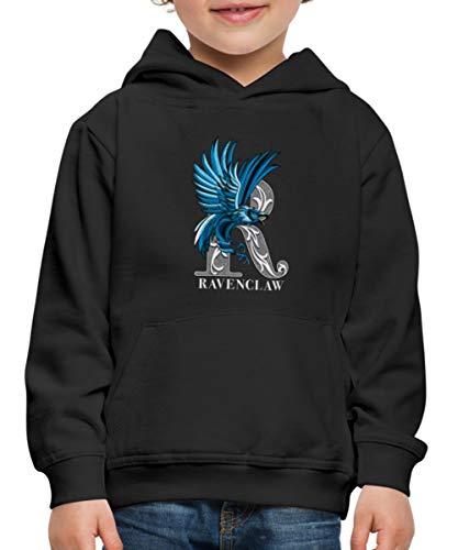 Spreadshirt Harry Potter Ravenclaw Coat of Arms Monochrome Kinderen trui Premium met capuchon