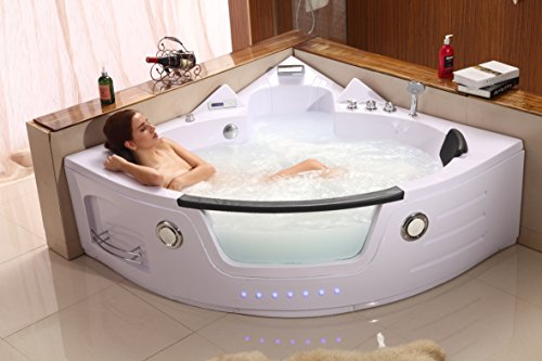 2 Person Hydrotherapy Computerized Massage Indoor Jetted Bathtub Hot Tub 050A by SDI Deals