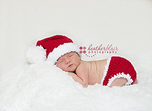a9d8cc30921 Amazon.com  Santa Hat and Diaper Cover  Handmade