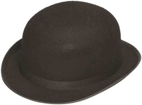 Deluxe Black Permalux Derby Roaring 20/'S Bowler Top Hat Adult Costume Accessory