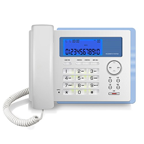 LCM Telephone White ABS Battery-Free Luminous Home Business Office Landline Bed Room Hotel Household Wired Phone by LCM