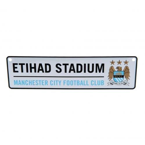 Manchester City FC 3D Hanging Window Road Street Sign Etihad Stadium Official