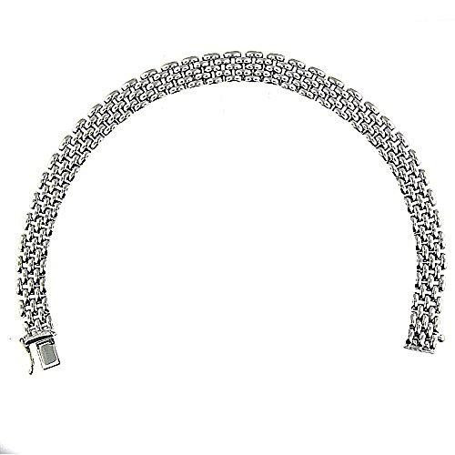 14 Kt White Gold Ladies Link Bracelet