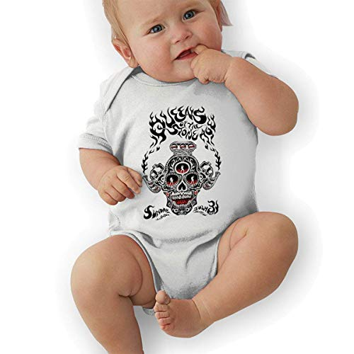 sretinez Queens of The Stone Age Unisex Classic Toddler Romper Baby BoyJumpsuit White