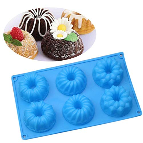 C-Pioneer 3D Donut Silicone Fondant Cake Mold Craft Chocolate Mould DIY Baking Sugar -