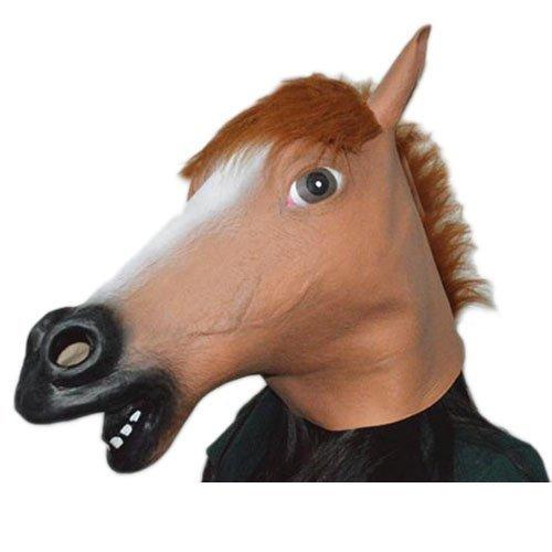 Masque de animal pour Halloween Party//Masque de Effroyable //Masque de /étrange de nouveaut/é Latex cheval de brun
