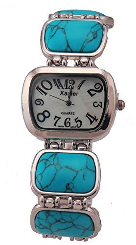 New Turquoise Fashion Bracelet Watch Inlay Style