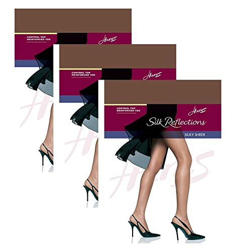 Hanes Silk Reflections Control Top, Reinforced Toe Pantyhose 3 - Silky Reflections Silk Sheer