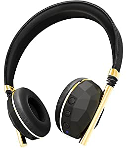 Caeden Linea N°10 Wireless Bluetooth Headphone - Faceted Carbon & Gold