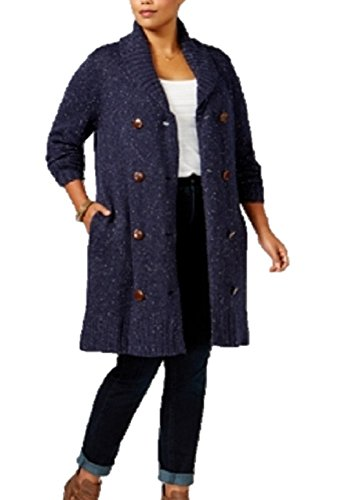Melissa McCarthy Seven7 Trendy Plus Size Double-Breasted Cardigan 1X