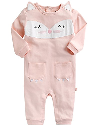 Vaenait Baby 56-80 Kleidung Strampelanzug Strampler Romper Ringbell Pink L