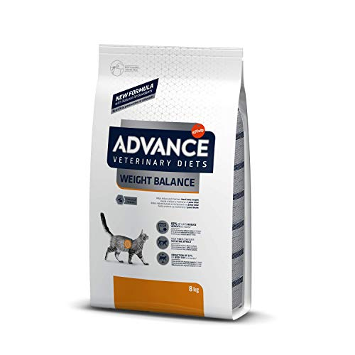 ADVANCE Veterinary Diets Weight Balance – Pienso para Gatos con Problemas de Sobrepeso – 8kg