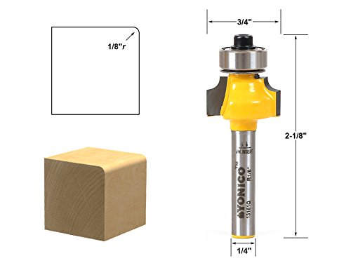 (Round Over Edging Router Bit - 1/8