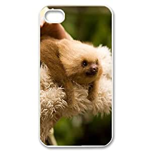 Customized Sloth Face Iphone 4,4S Cover Case, Sloth Face Custom Phone Case for iPhone 4, iPhone 4s at Lzzcase