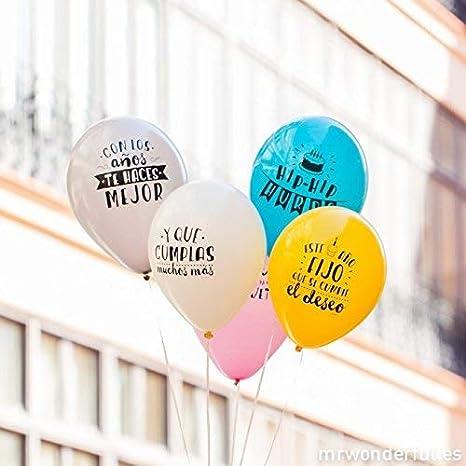 Mr Wonderful 10 Globos Para Cumpleaños Molones, Multicolor ...
