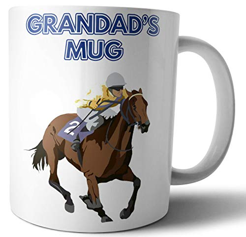 Father's Day or Birthday Card/Gift - Race Horse Racing Themed - For Grandad -