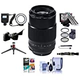 Fujifilm XF 80mm (122mm) F/2.8 R LM OIS WR Macro Lens Black - Bundle with 62mm Filter kit, Flex Lens Shade, LensAlign MkII Focus Calibration System, Led Macro Ring Light, Table Top Tripod and More
