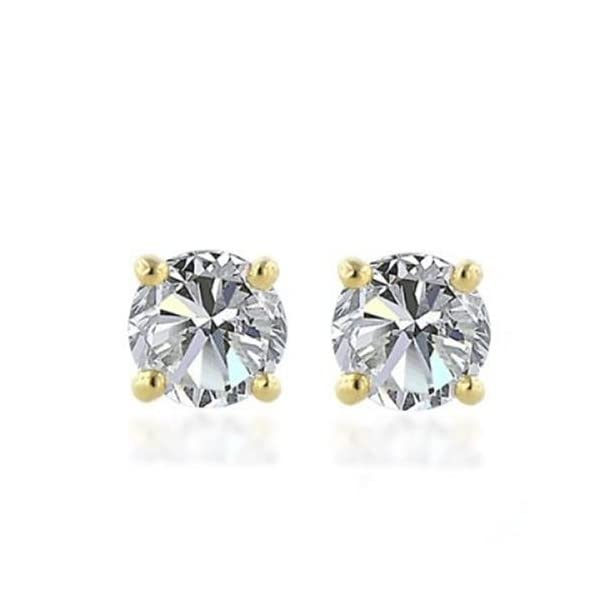 10k-Gold-Round-Cut-Diamond-Studs-110-cttw-J-K-Color-I3-Clarity
