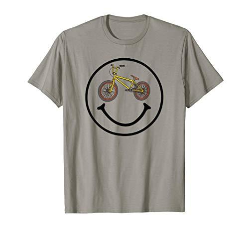Funny BMX bike Smiley Fan T-shirt Face gift boys kids